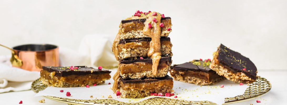 Gluten Free Peanut Butter Caramel Squares