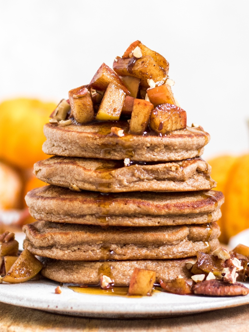 Gluten Free Cinnamon Maple Pancakes