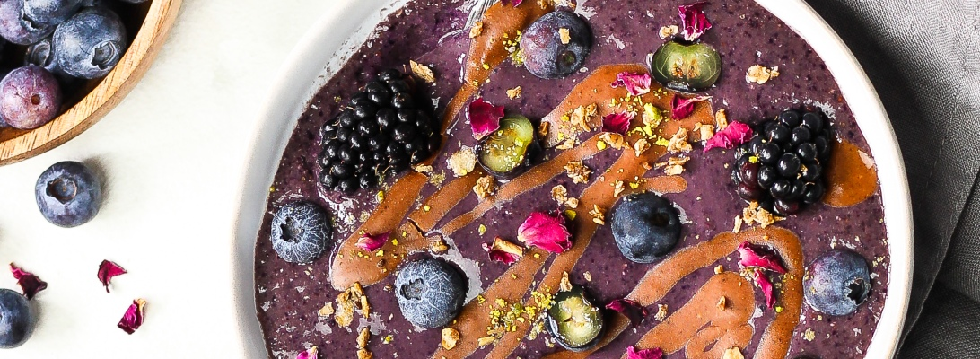 Gluten Free Blueberry Smoothie Bowl