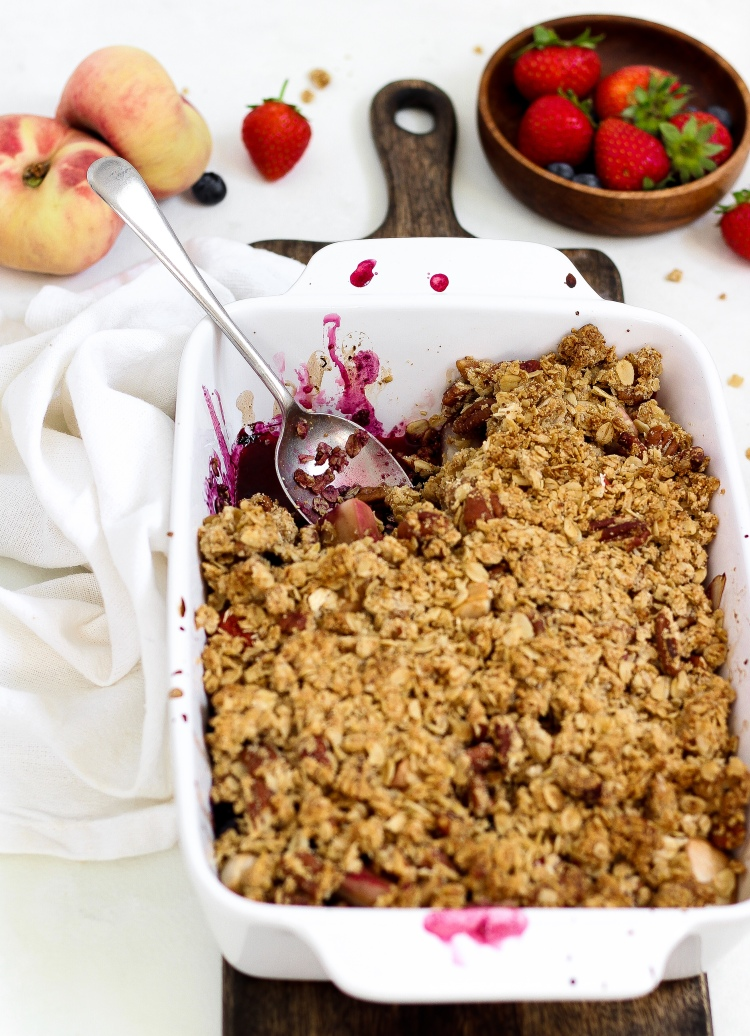 Gluten Free Summer Fruit Crumble