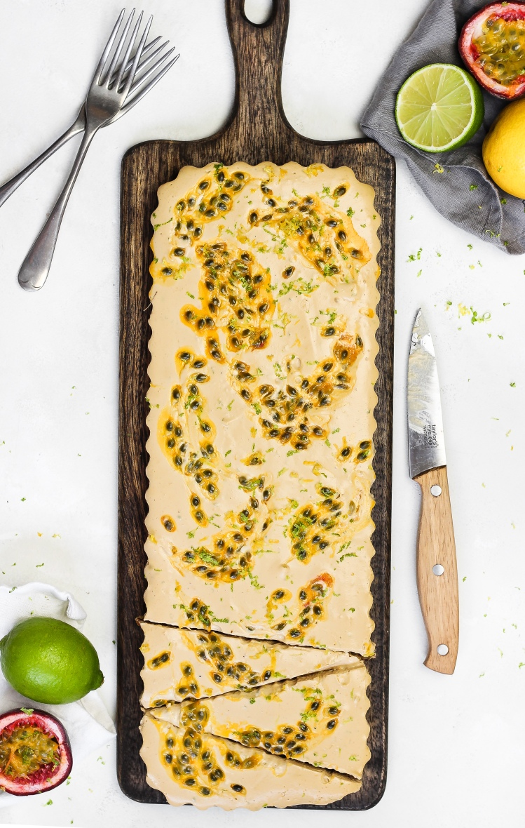 Gluten Free Lemon, Lime & Passion Fruit Cheesecake