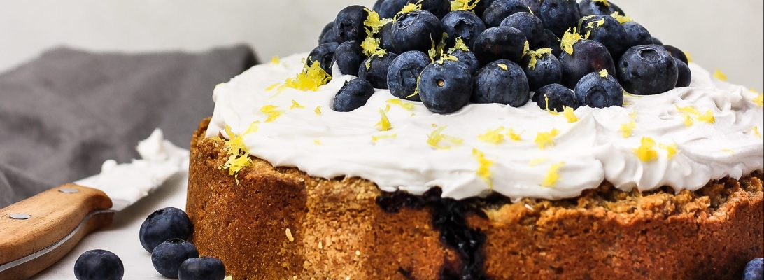 Gluten Free Lemon & Blueberry Almond Cake