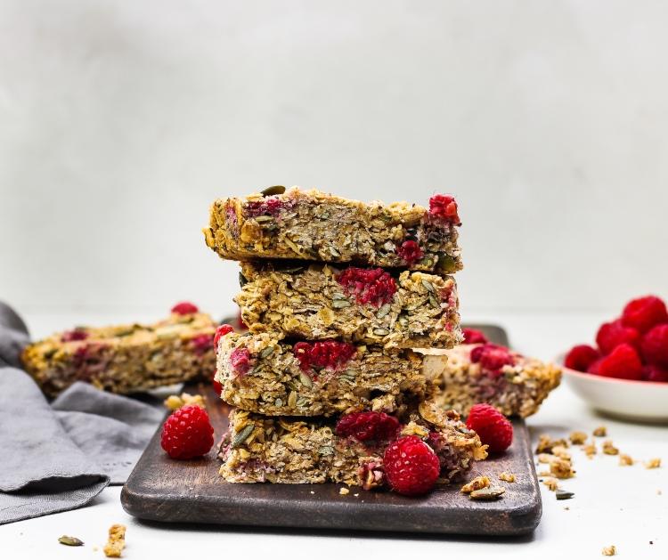 Gluten Free Raspberry & Coconut Granola Bars