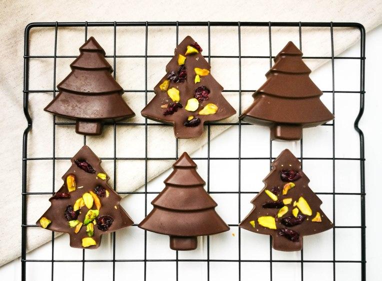 Vegan Christmas Tree Chocolates