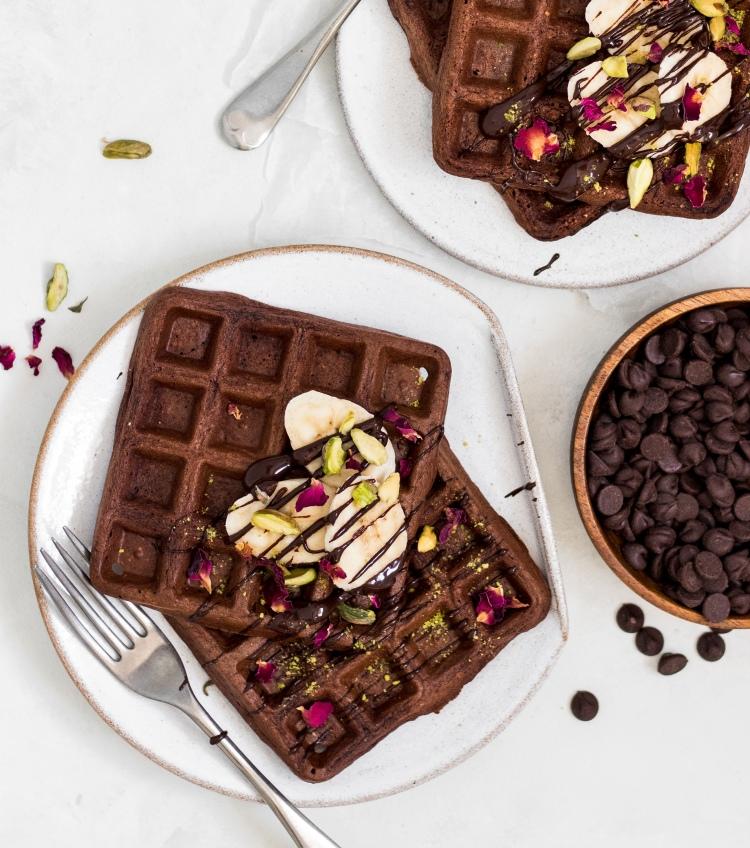 Gluten Free Chocolate Banana Waffles