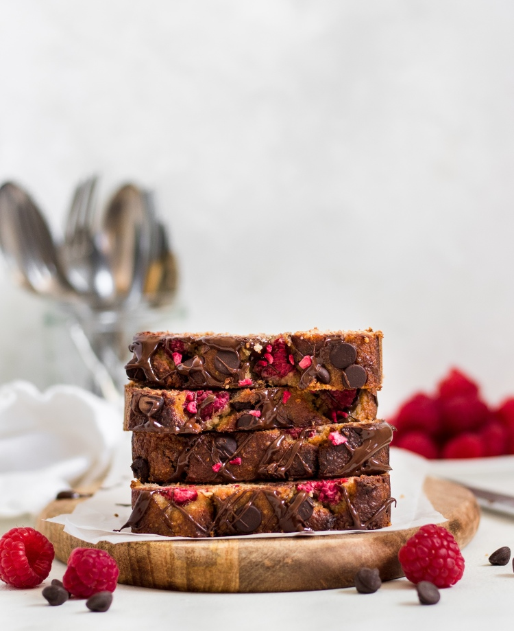 Raspberry & Chocolate Chip Banana Bread