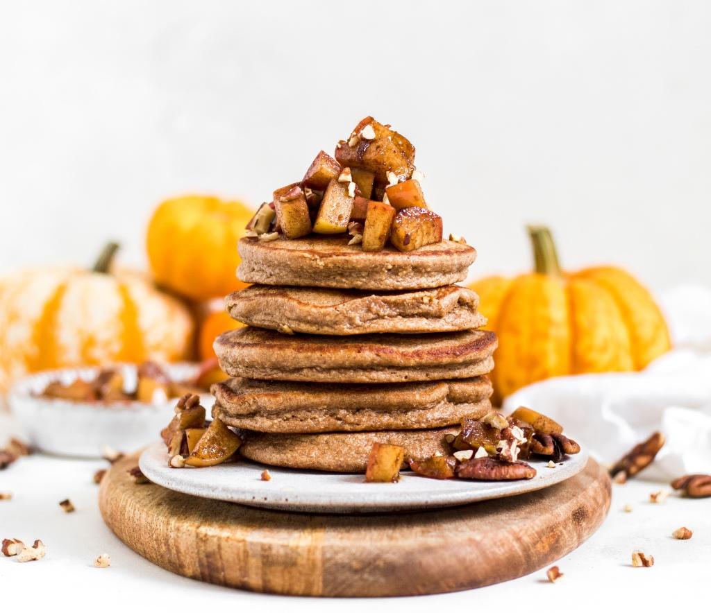 Gluten Free Cinnamon Maple Pancakes